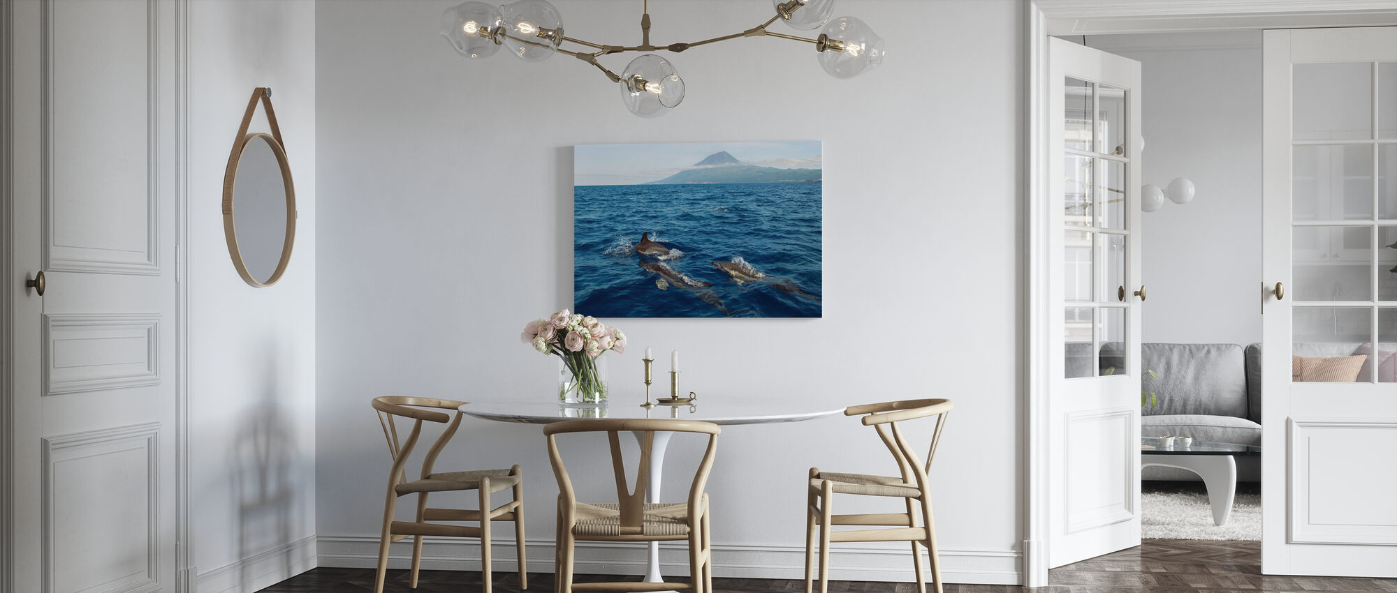 Dolphins in the Azores - Canvas print - Kitchen