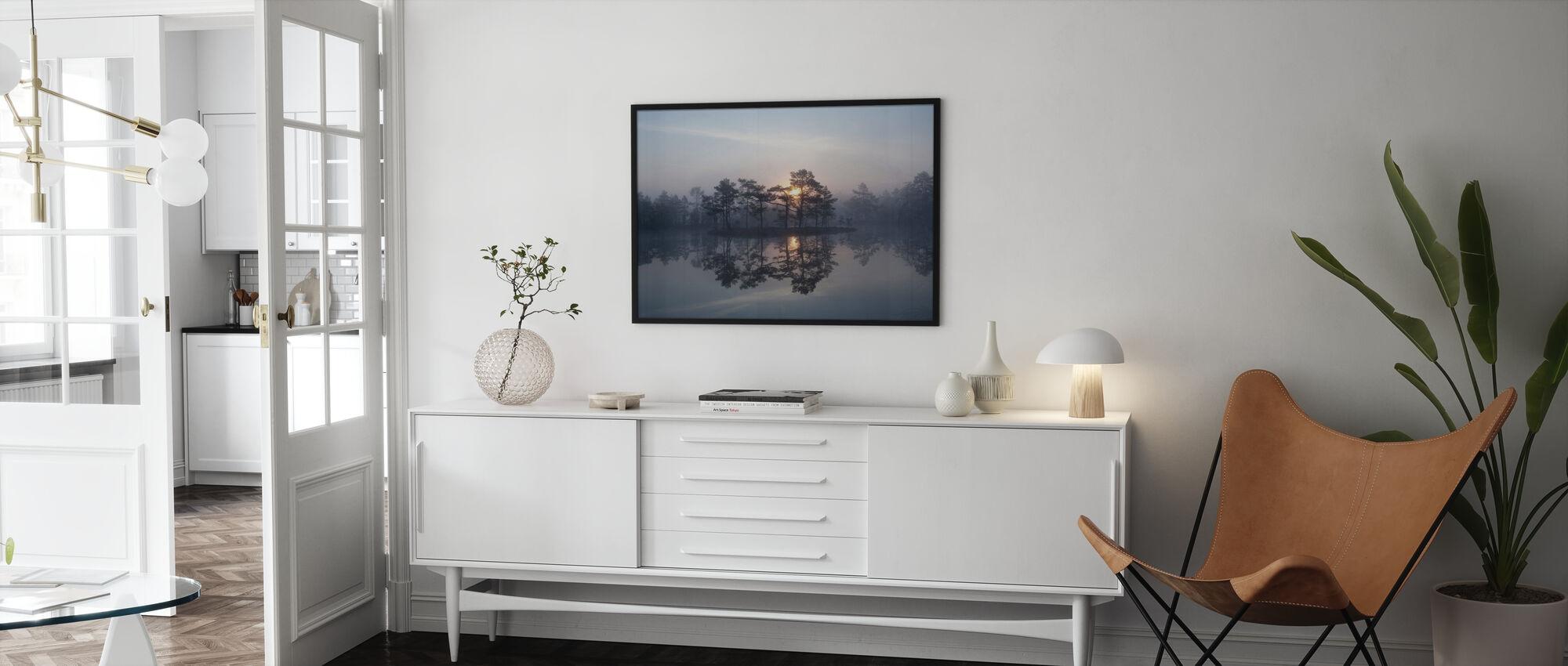 Betoverende mist - Ingelijste print - Woonkamer