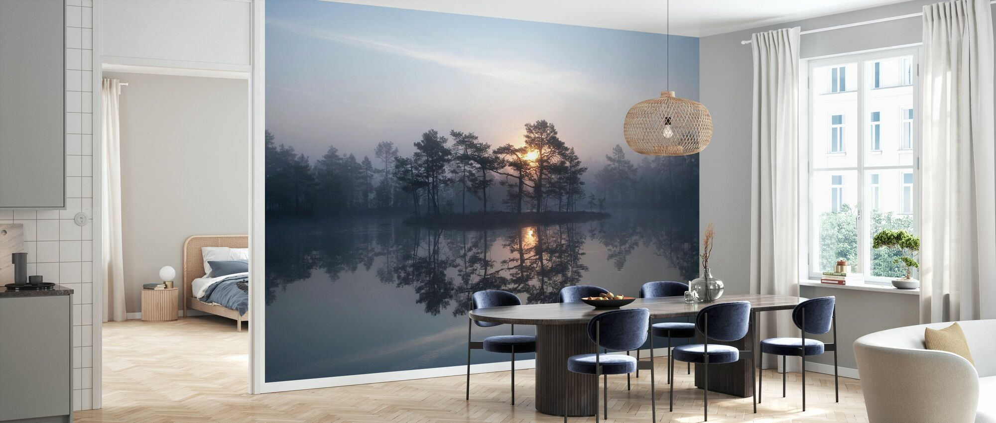 Betoverende mist - Behang - Keuken