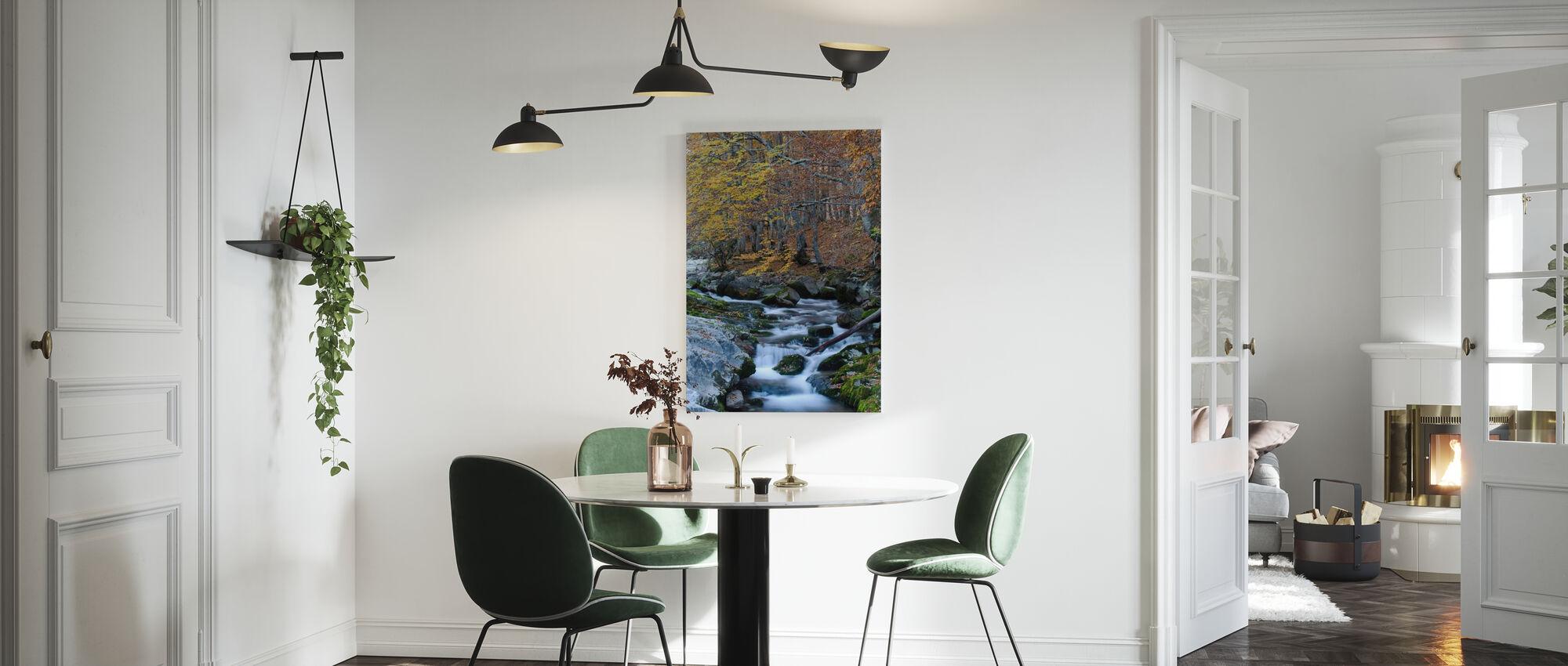 Woud Herfstwater - Canvas print - Keuken