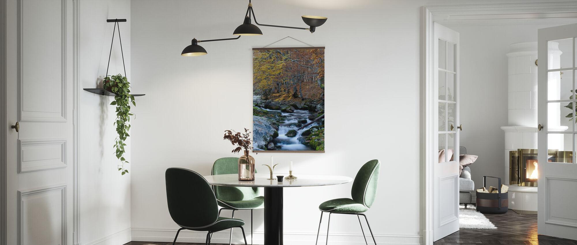 Woodland Autumn Water - Poster - Kitchen