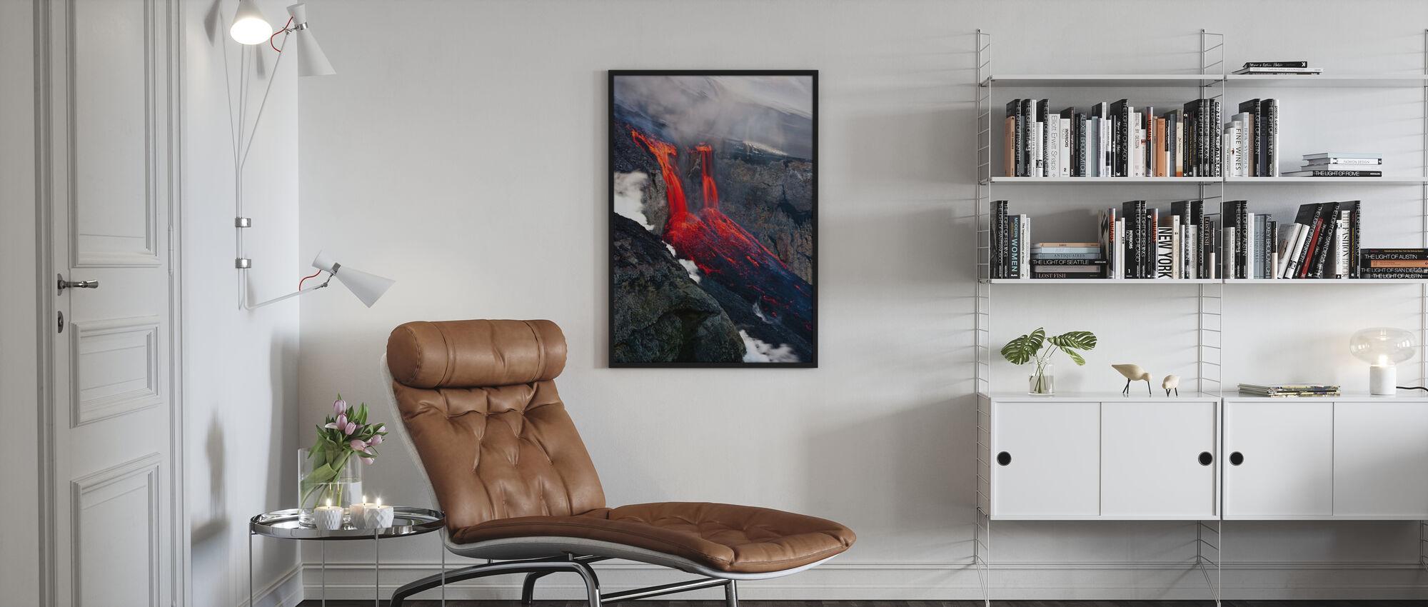 Vloeibaar vuur - Ingelijste print - Woonkamer