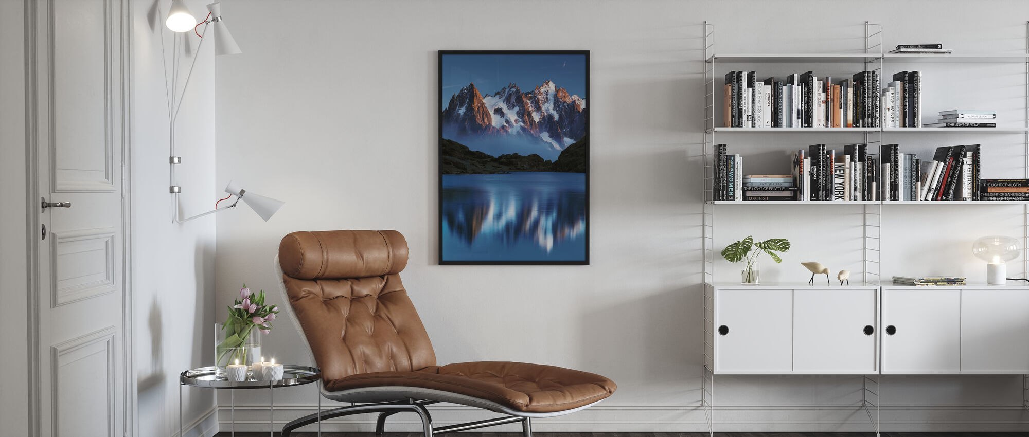 Blue Mountain Mirror - Poster - Living Room