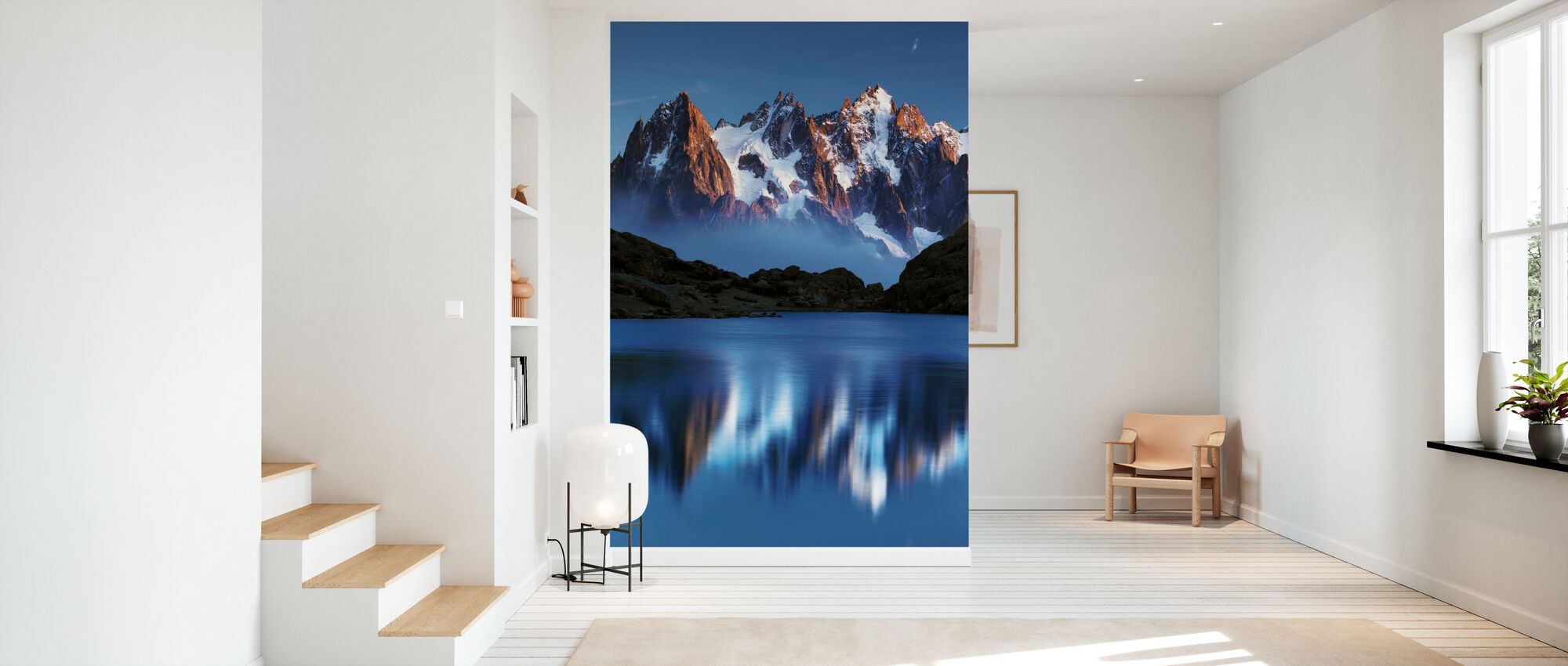 Blue Mountain Mirror - Wallpaper - Hallway