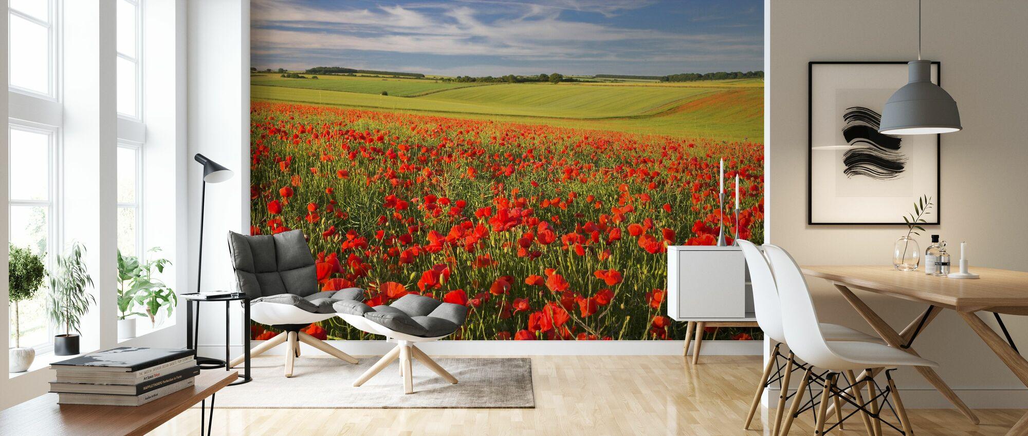 Sea of Poppies - Wallpaper - Living Room