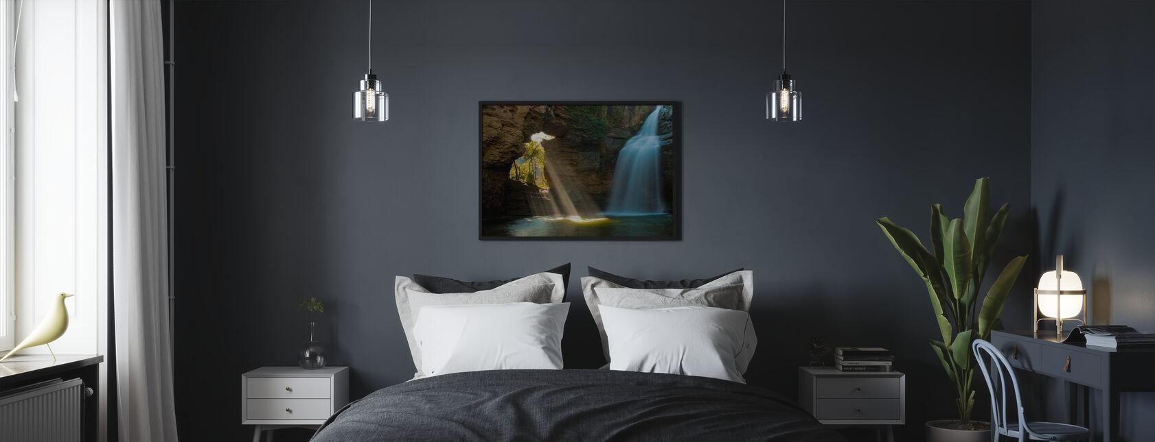 Salainen luola - Kehystetty kuva - Makuuhuone