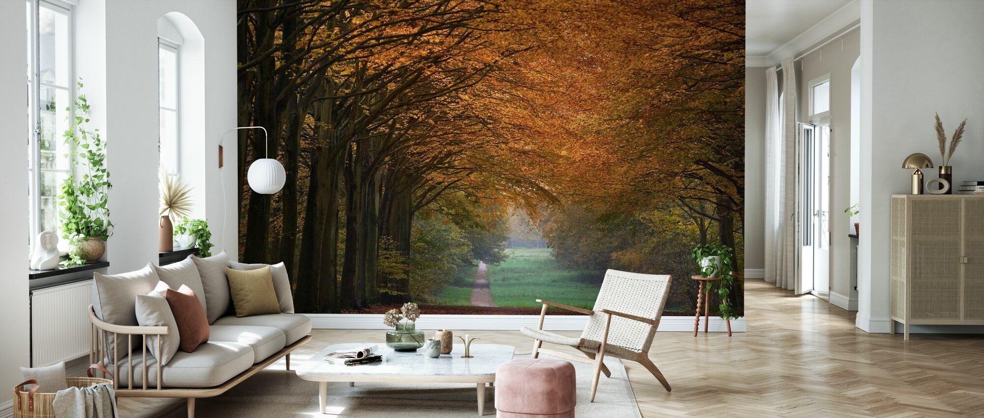 Great Wood Alley - Wallpaper - Living Room
