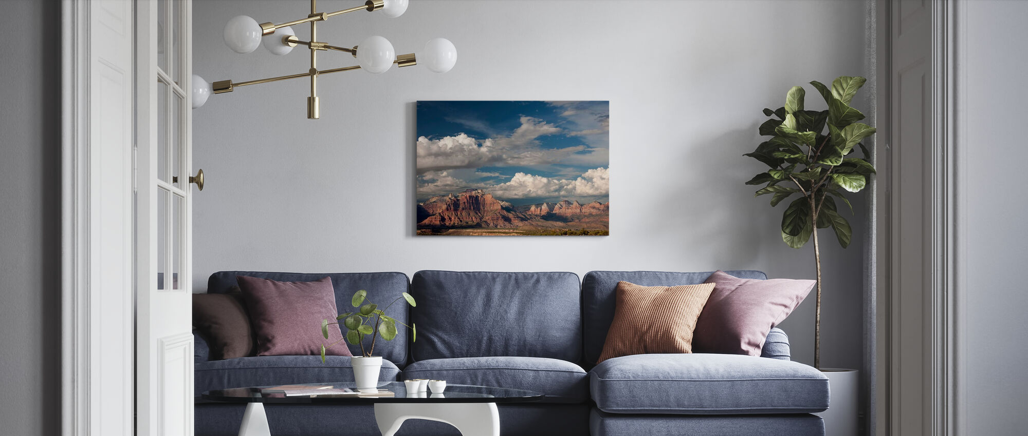 Geological Formations - Canvas print - Living Room