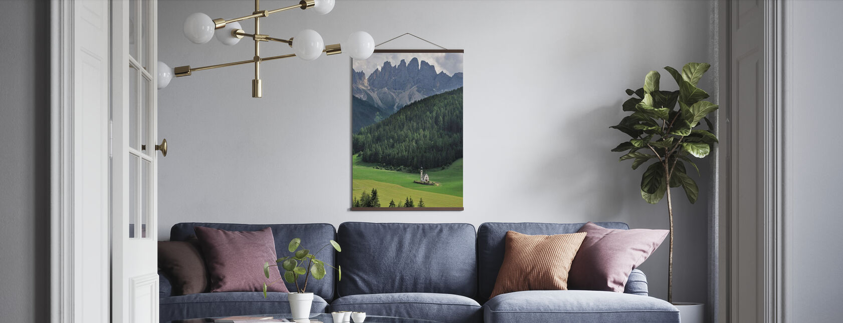 At the Foothills of the Dolomites - Poster - Living Room