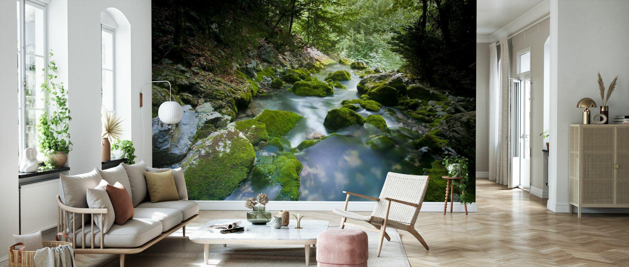 Secret Gleaming Stream - Wallpaper - Living Room