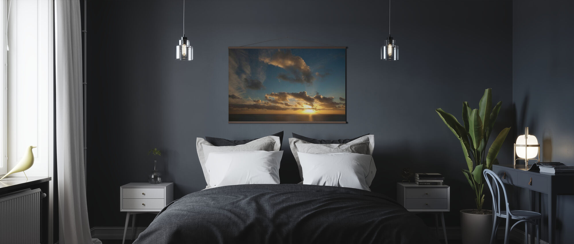 Solnedgang på Isle of Skye - Plakat - Soverom