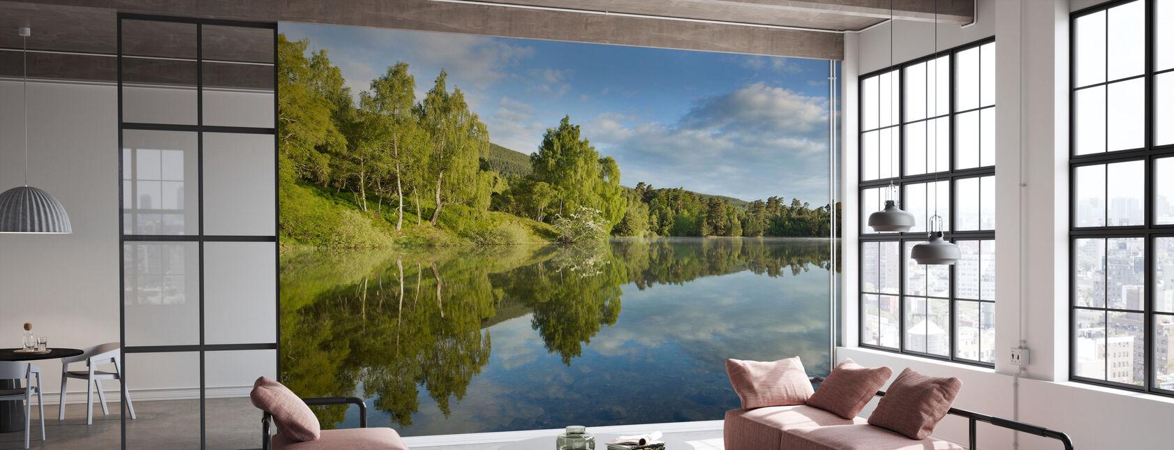 Lac d'été paisible - Papier peint - Bureau