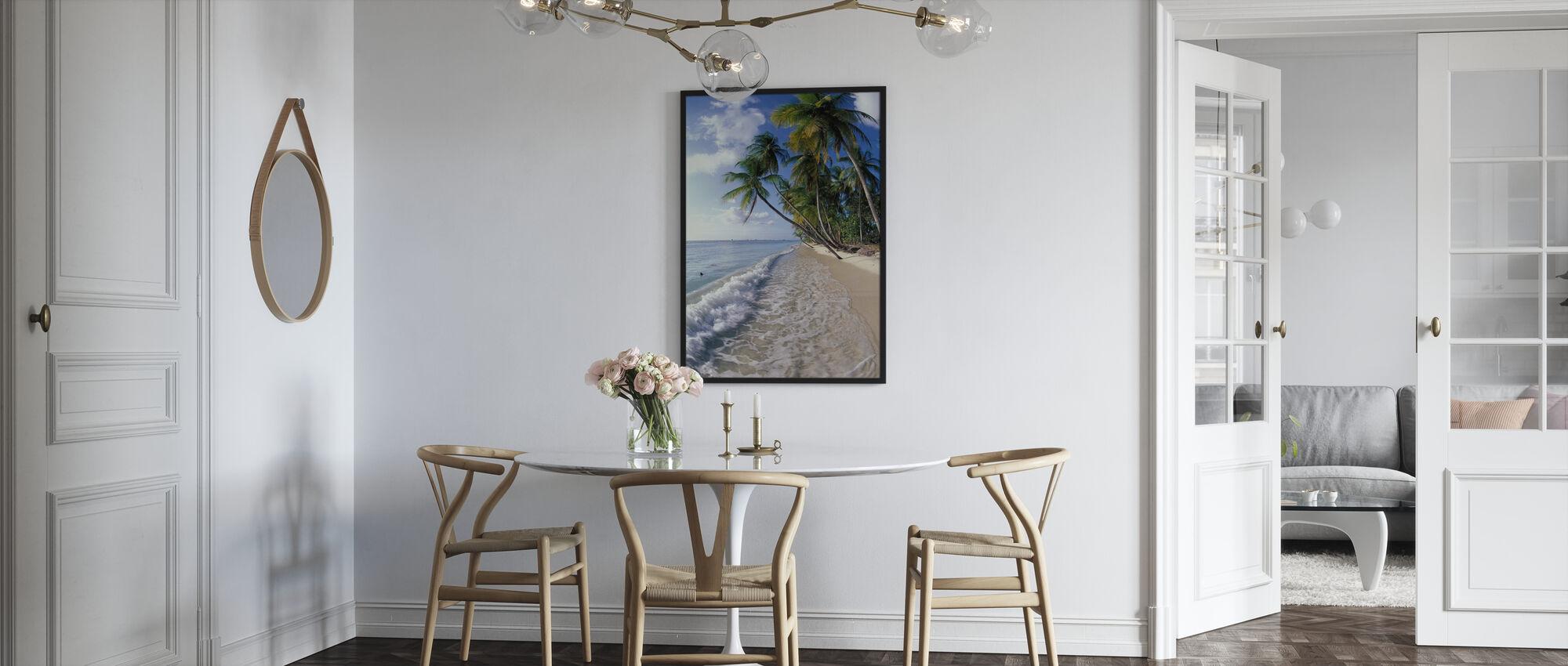 Tropische kust - Ingelijste print - Keuken