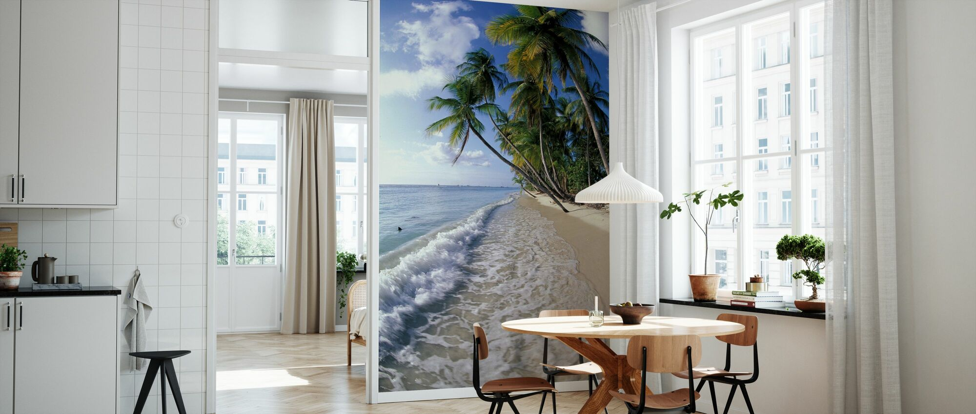 Tropical Seashore - Wallpaper - Kitchen