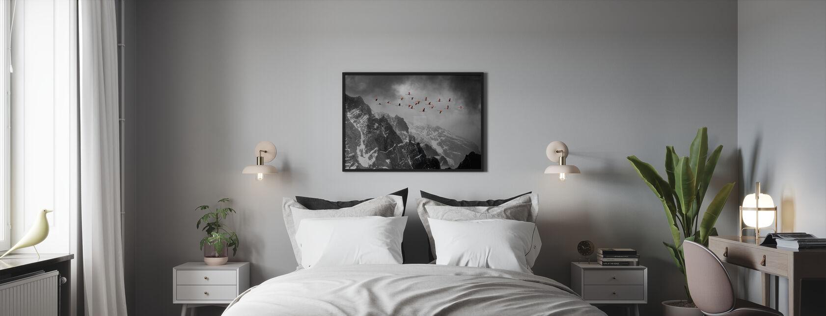 Lunga strada da casa - Stampa incorniciata - Camera da letto