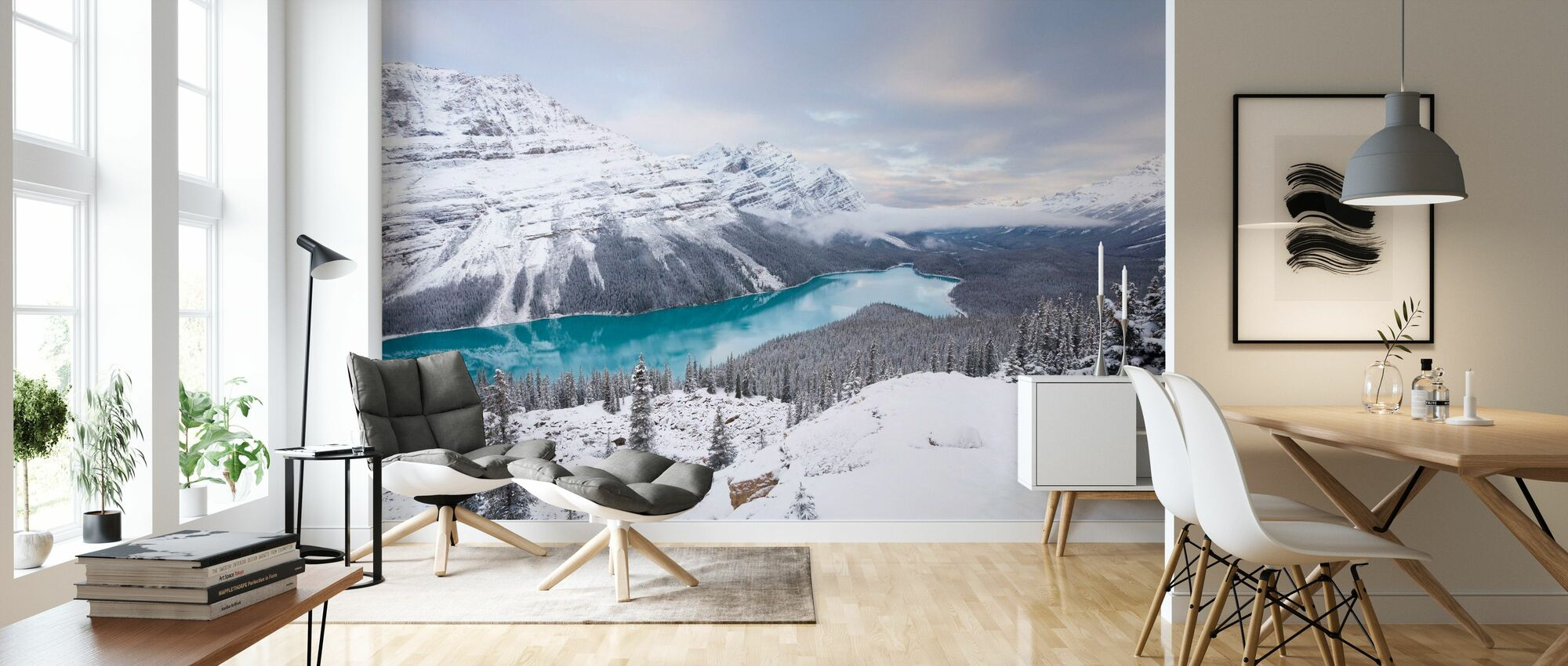 Glacial Lake - Wallpaper - Living Room