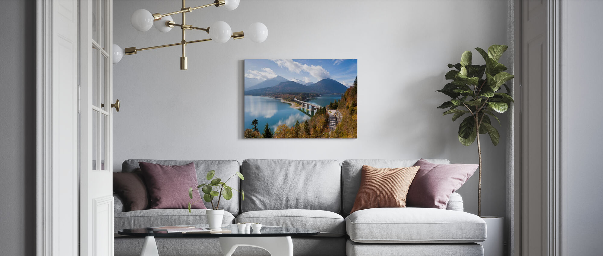 Bavaria - Canvas print - Living Room