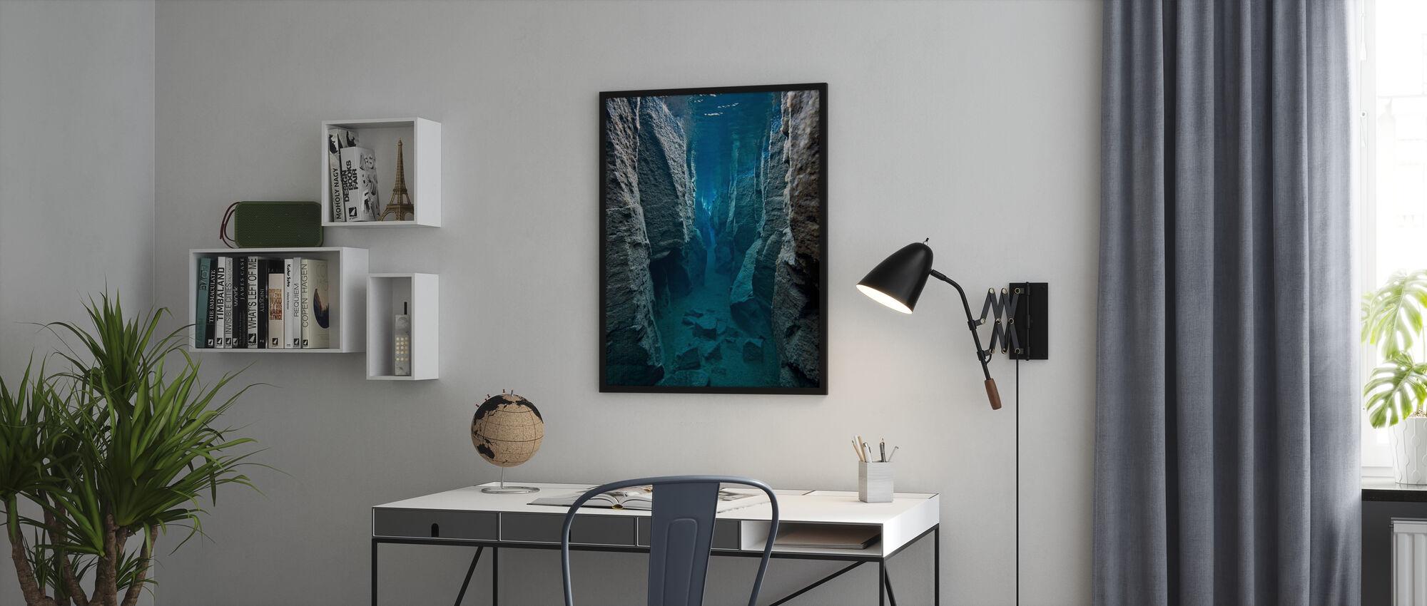 Deep Crack - Framed print - Office