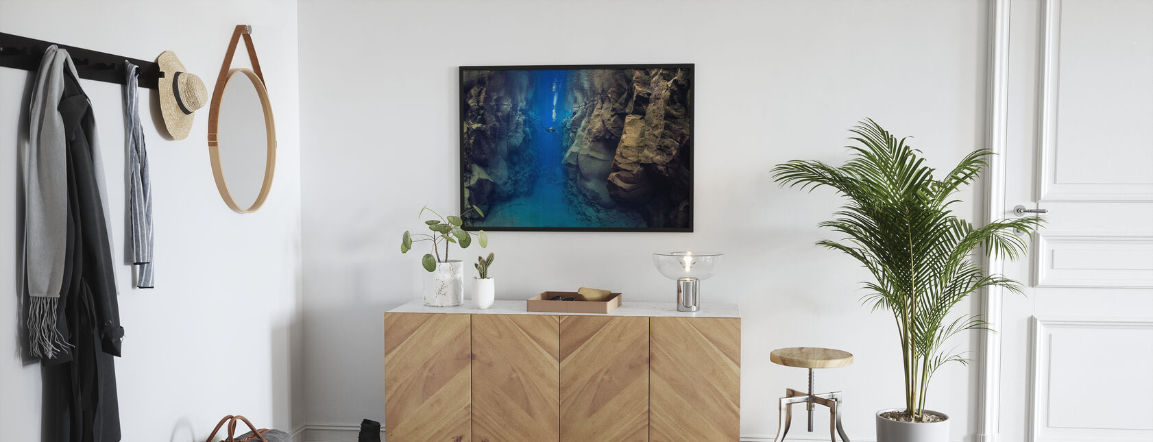 Dykare mellan tektoniska plattor - Poster - Hall