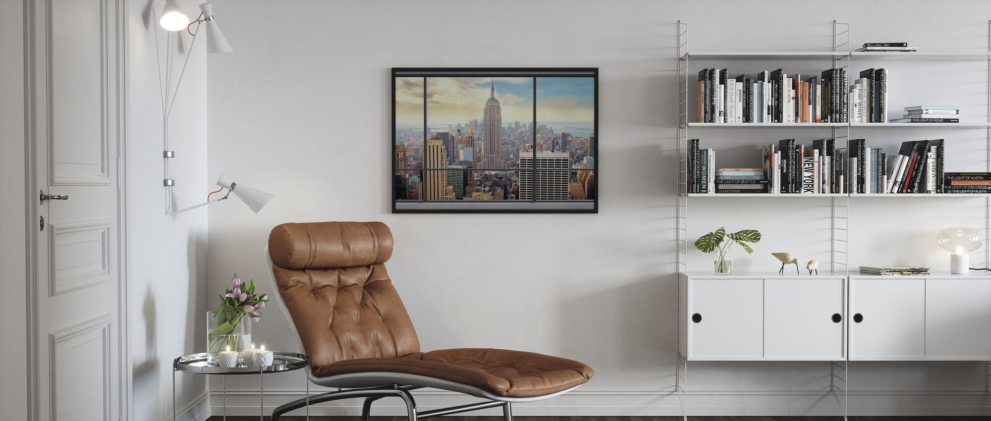 Penthouse med utsikt - Plakat - Stue