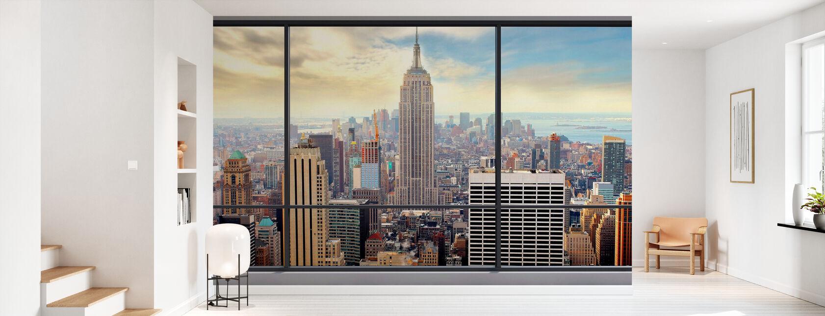 Penthouse Window View - Wallpaper - Hallway