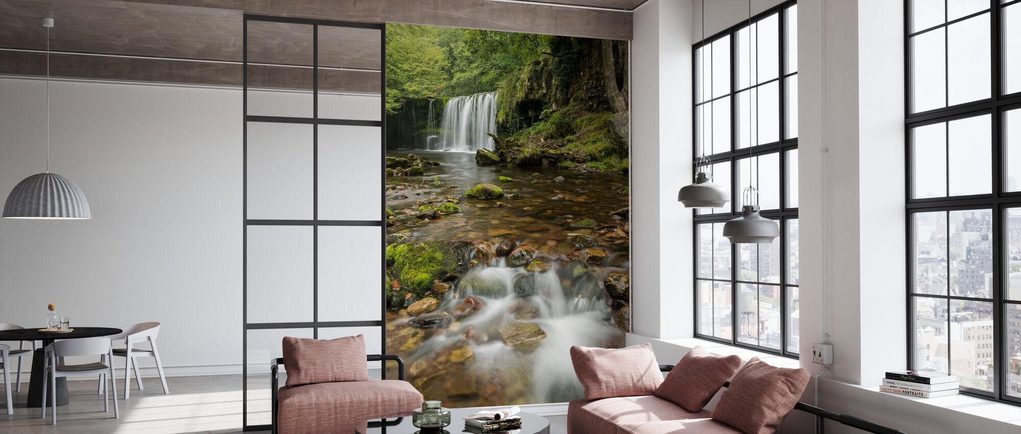 Clear Water Stream - Wallpaper - Office