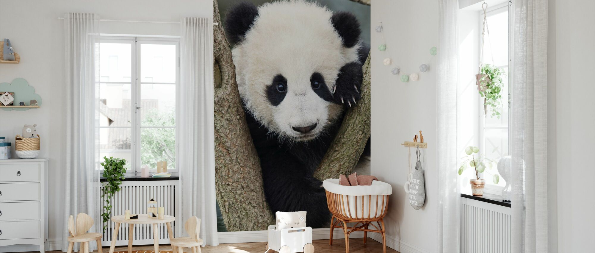 Giant Panda Cub - Wallpaper - Nursery