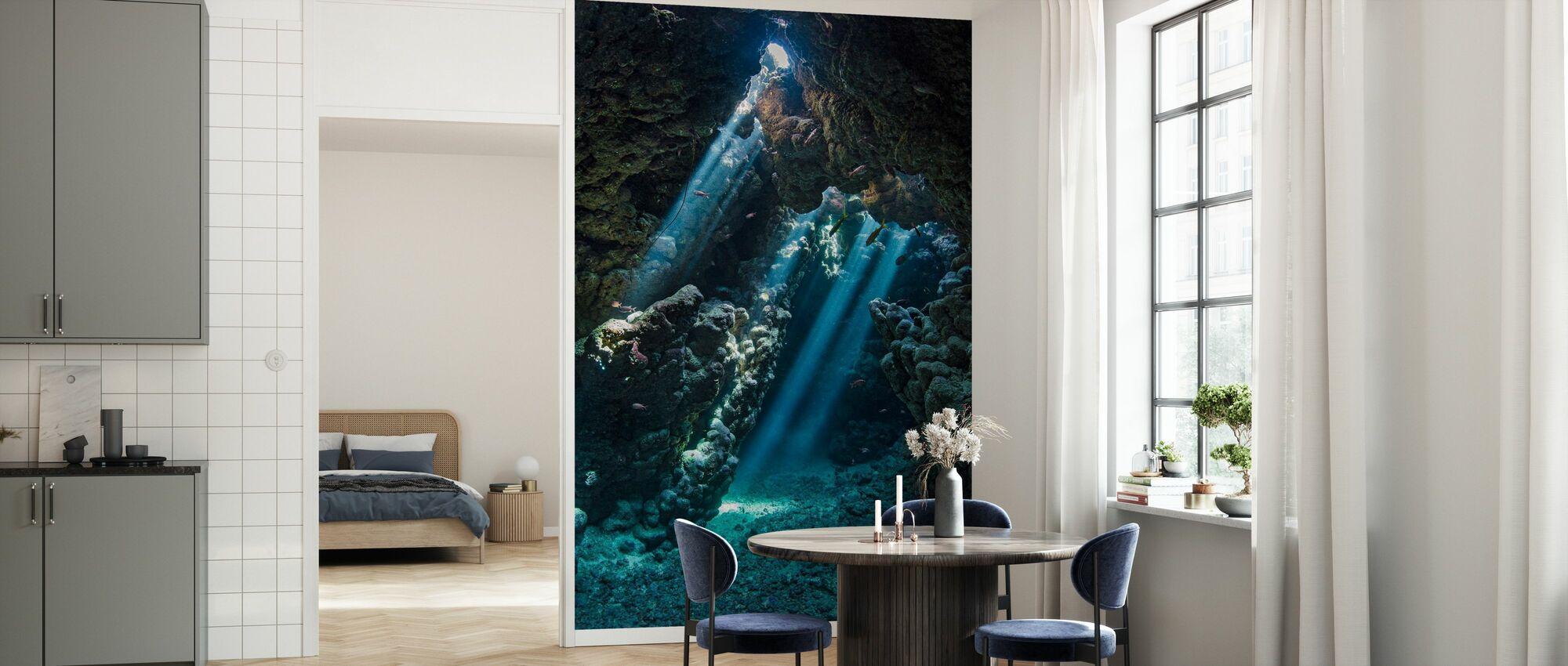 Underwater Cavern - Wallpaper - Kitchen