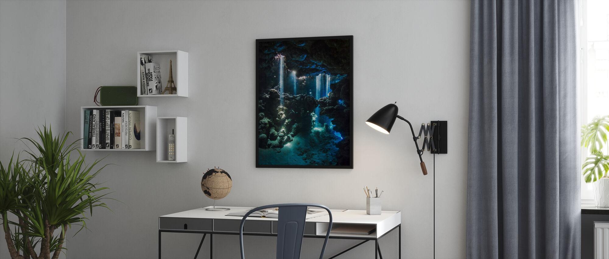 Shafts of Light - Framed print - Office