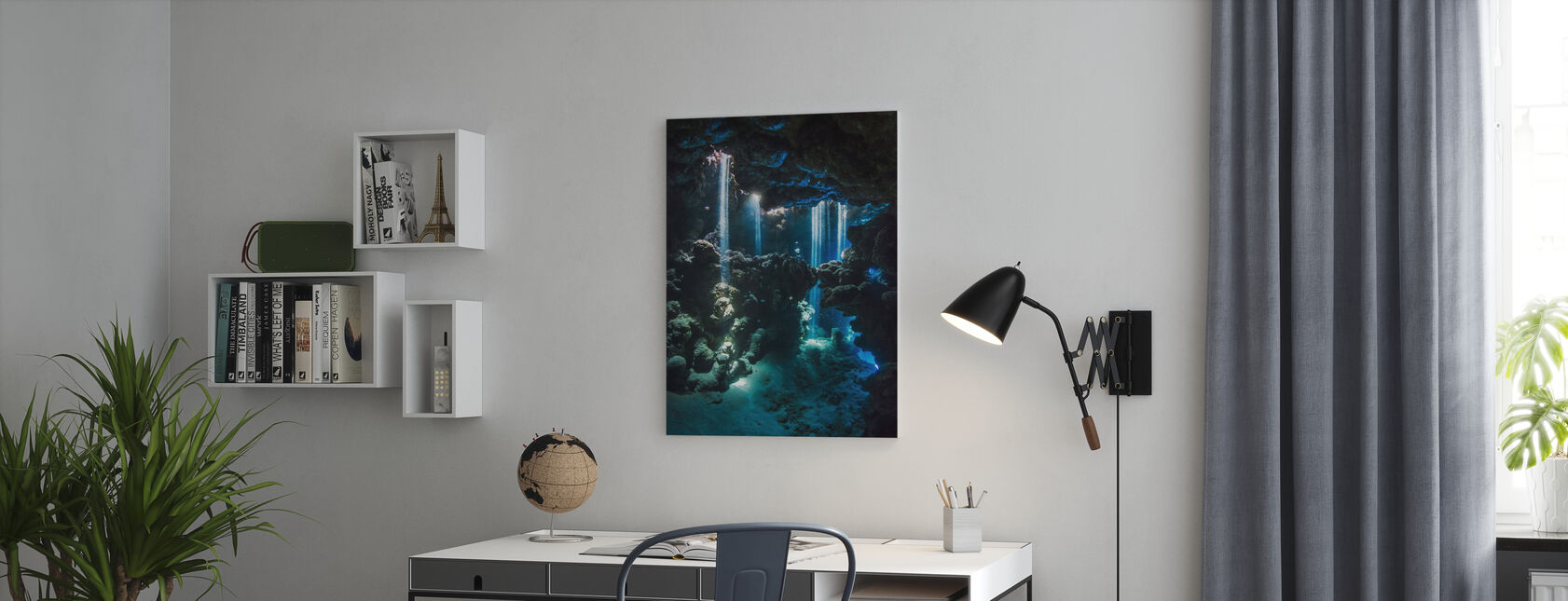 Shafts of Light - Canvas print - Office