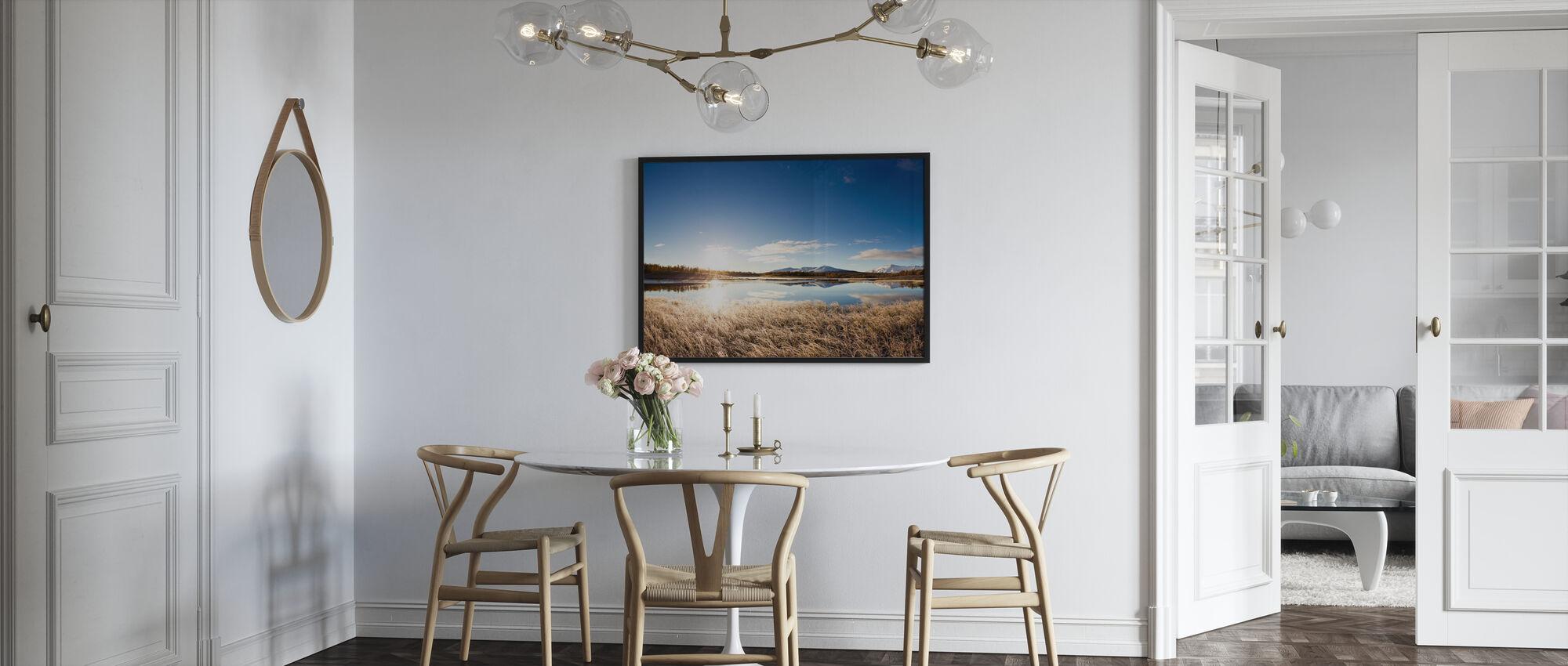 Noord-Zweeds landschap - Ingelijste print - Keuken