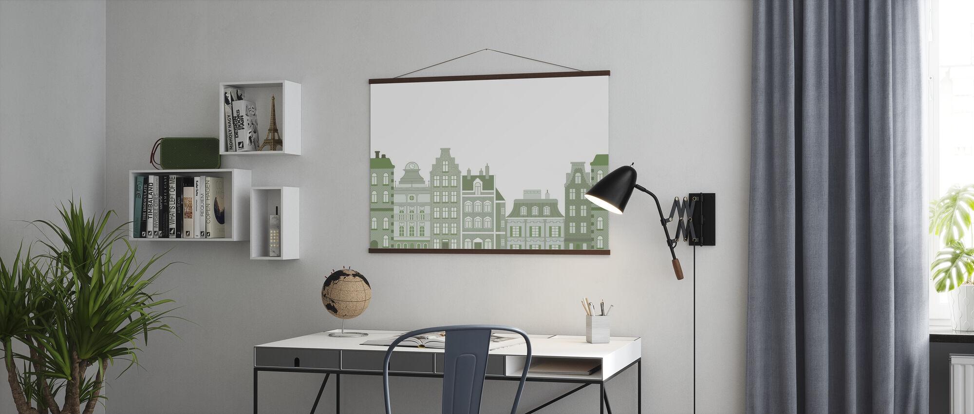 Oude Stad Groen - Poster - Kantoor