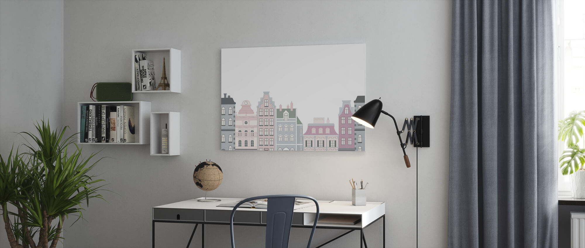 Old Town Pink - Canvas print - Office