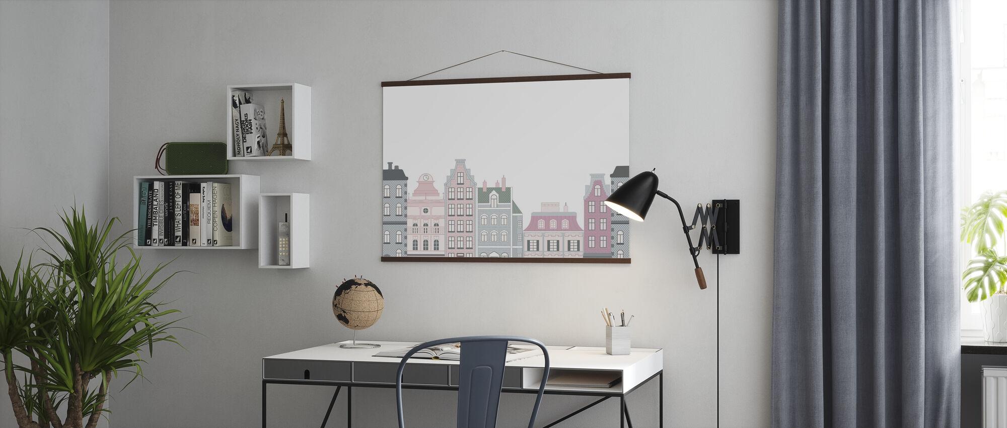 Altstadt Rosa - Poster - Büro