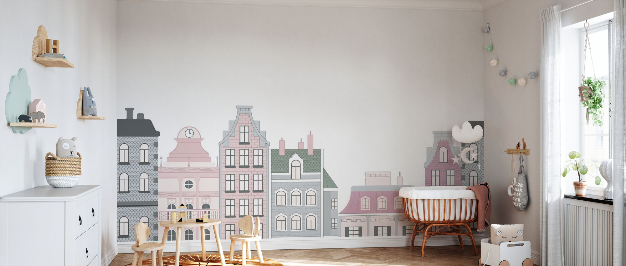 Old Town Pink - Wallpaper - Nursery