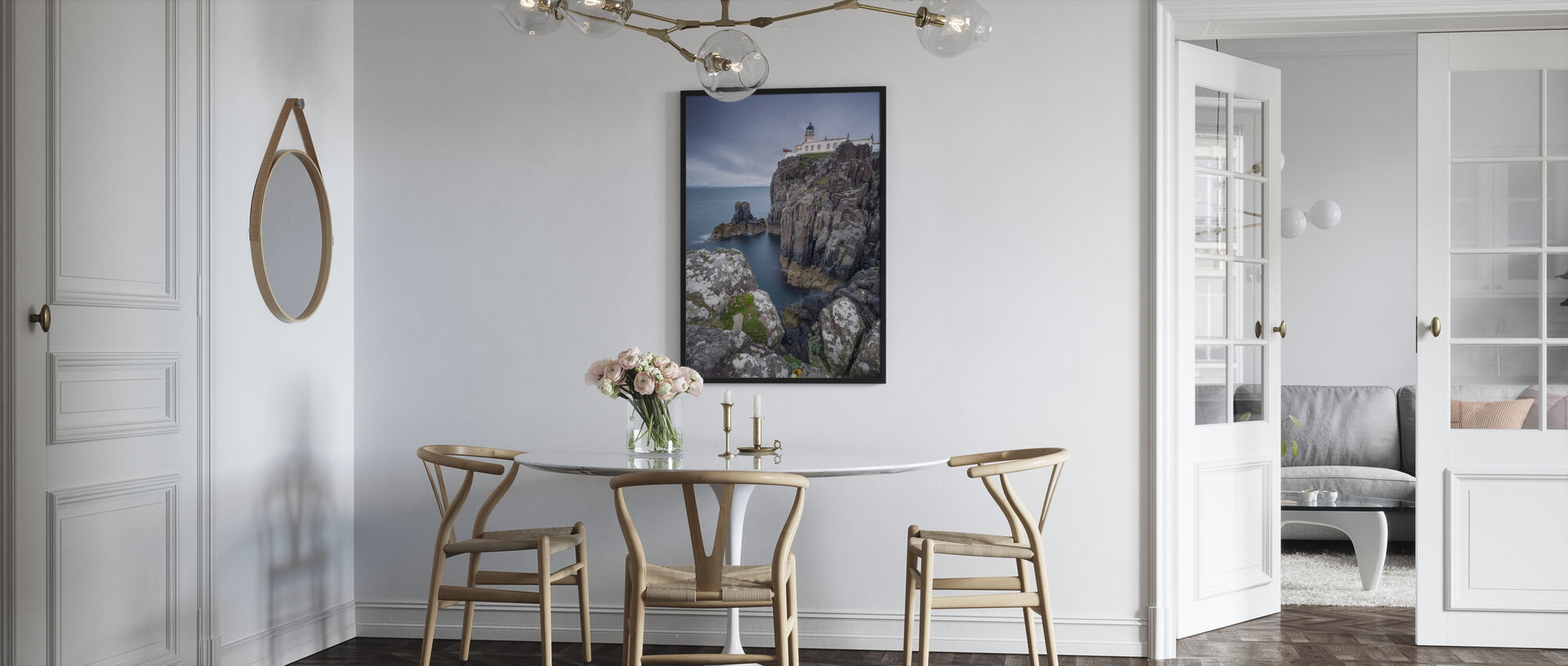 Lighthouse at Neist Point, Isle of Skye - Scotland - Framed print - Kitchen