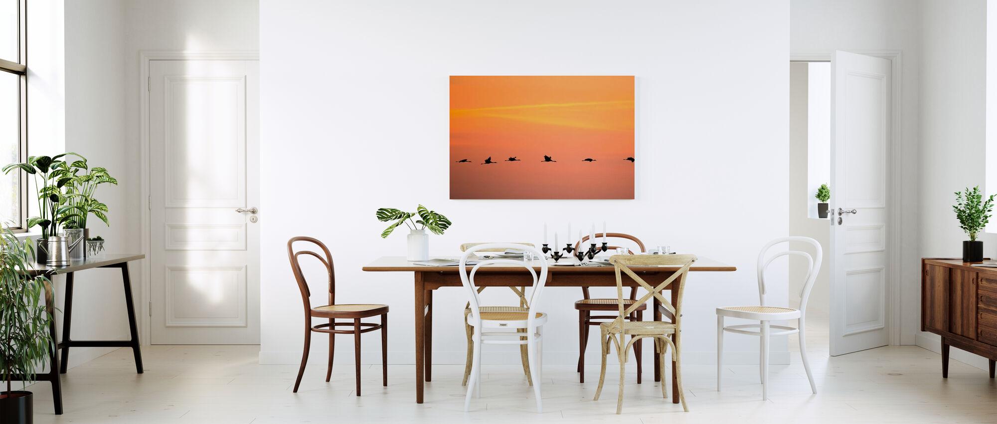 Krane in Sonnenaufgang - Leinwandbild - Küchen