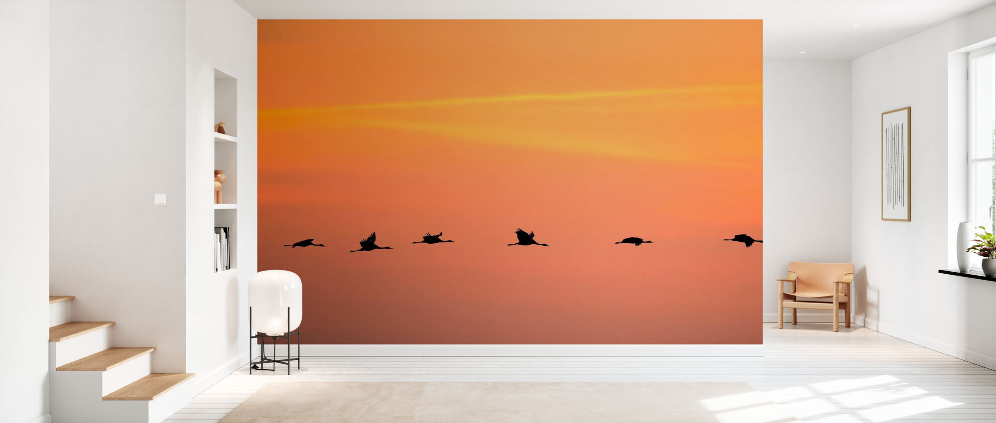 Cranes in Sunrise - Wallpaper - Hallway