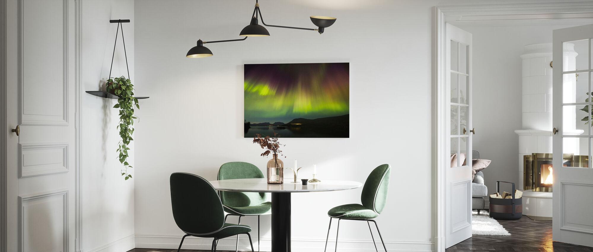 Northern Lights in Torneträsk - Sweden - Canvas print - Kitchen