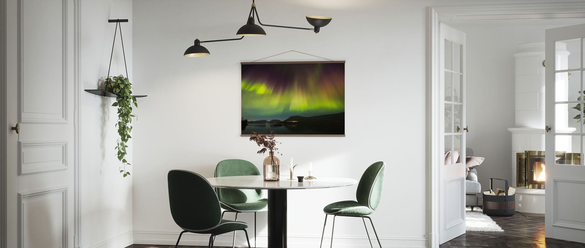 Northern Lights in Torneträsk - Sweden - Juliste - Keittiö