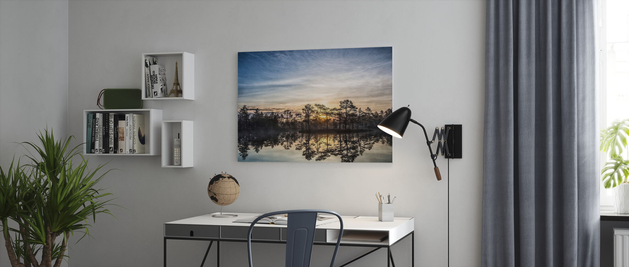 Lake in Hällefors - Sweden - Canvastavla - Kontor