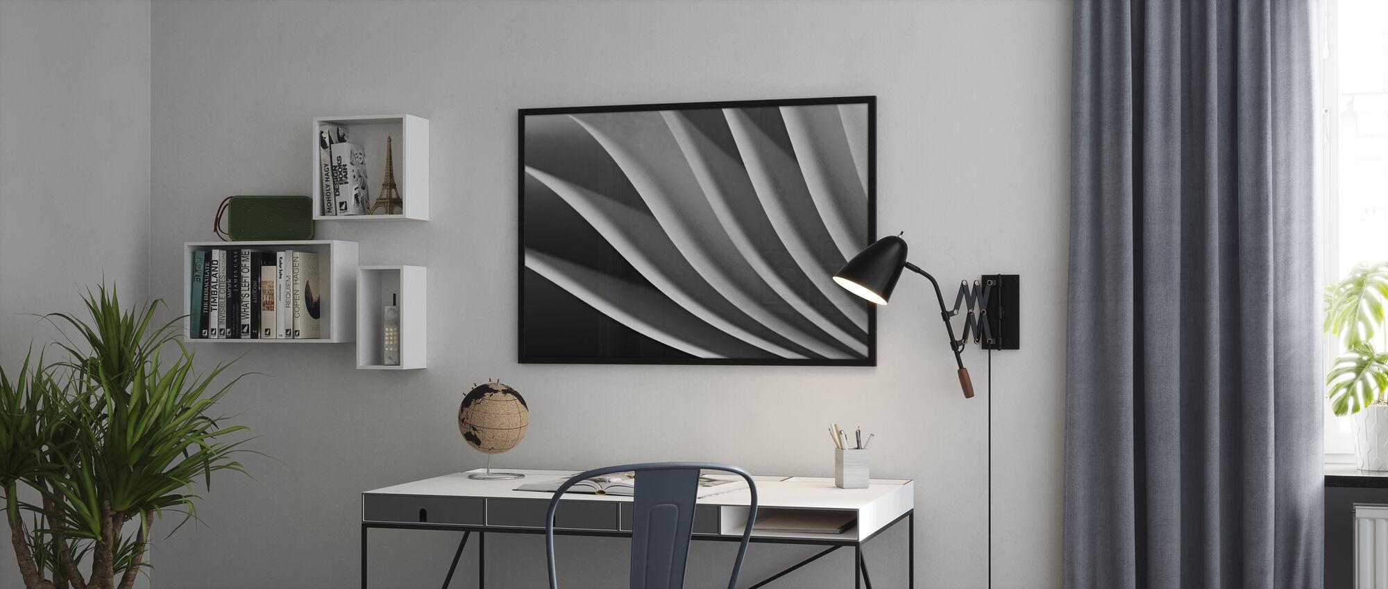 Paperi aalto - Kehystetty kuva - Toimisto