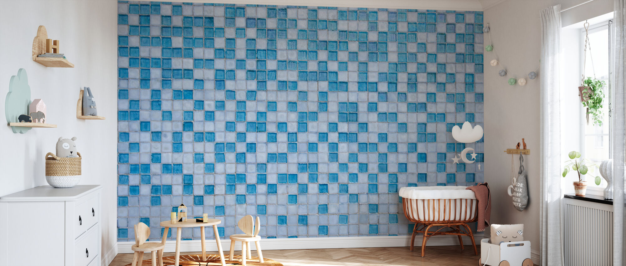 Miami Mosaic - Wallpaper - Nursery