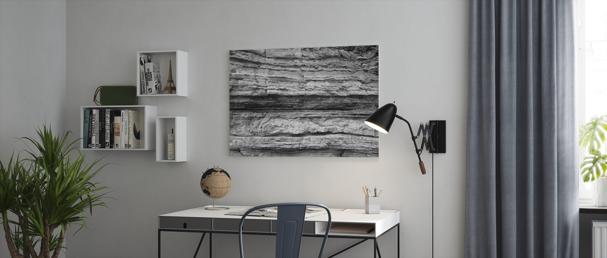 Reef Structure Grey - Canvas print - Office