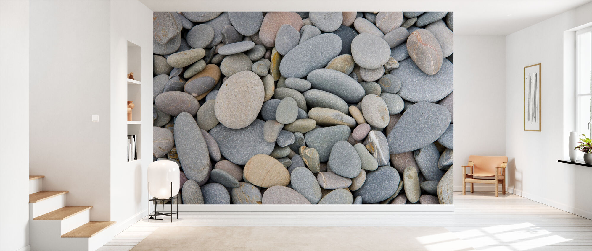 Pebbles on Sandymouth Beach - Wallpaper - Hallway