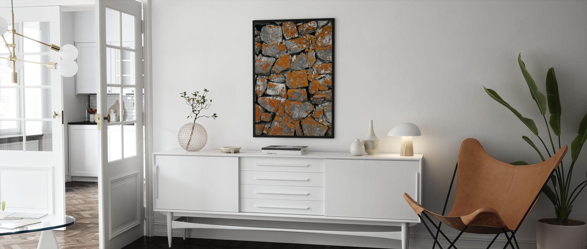 Icelandic Stonewall - Poster - Living Room