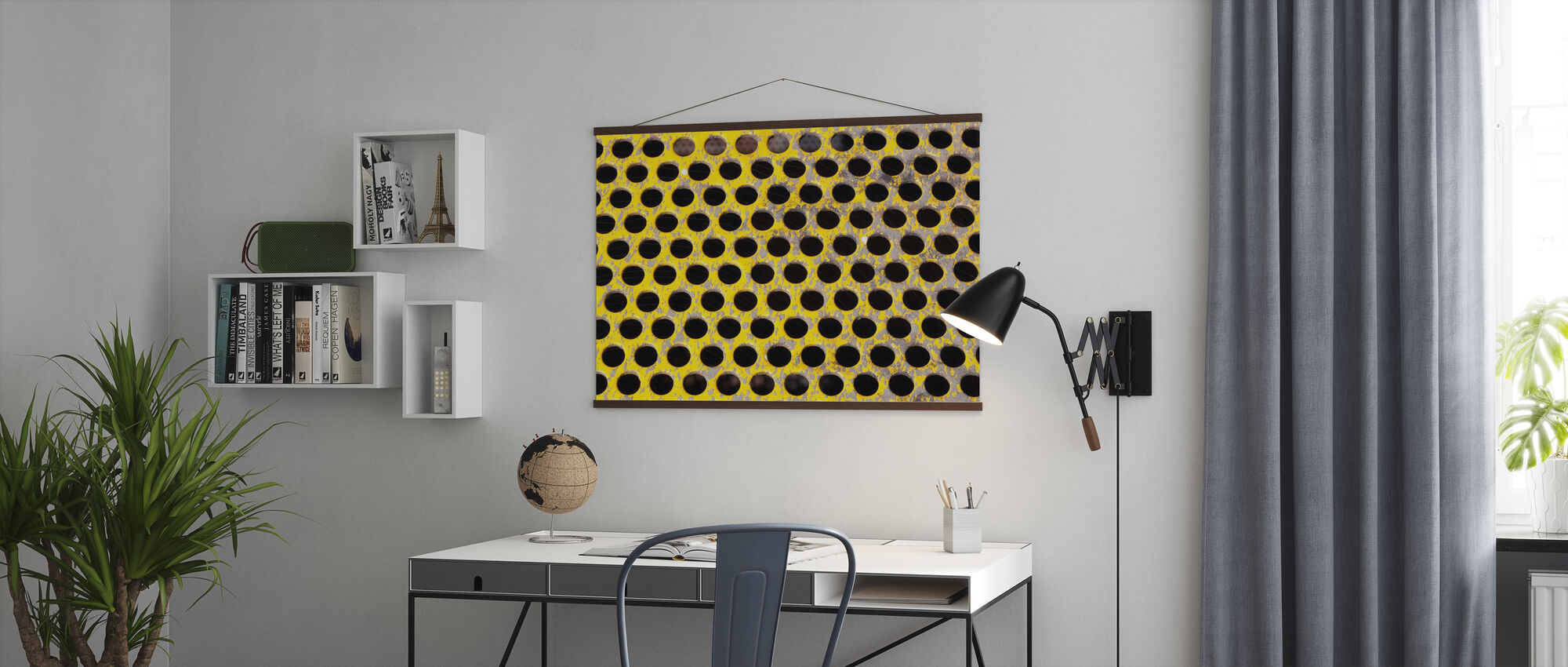 Old Perforated Metal Plate - Poster - Office