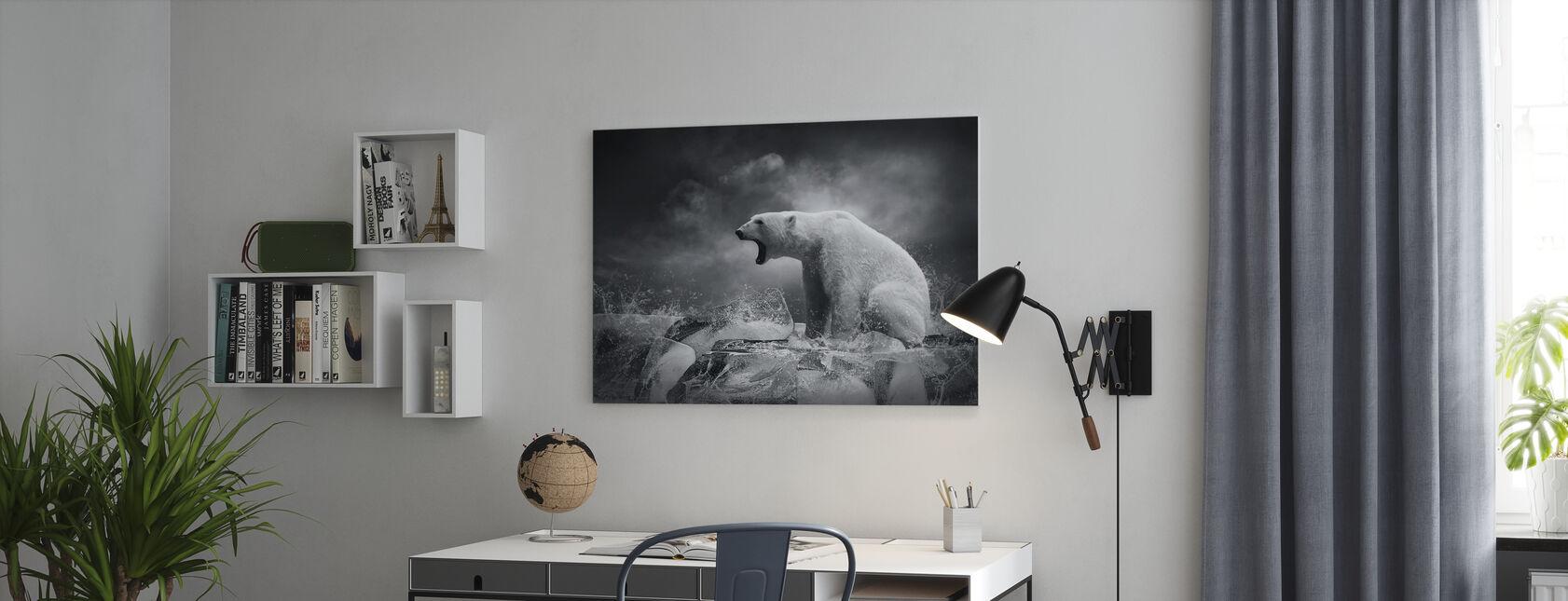 Witte IJsbeer Jager - Canvas print - Kantoor