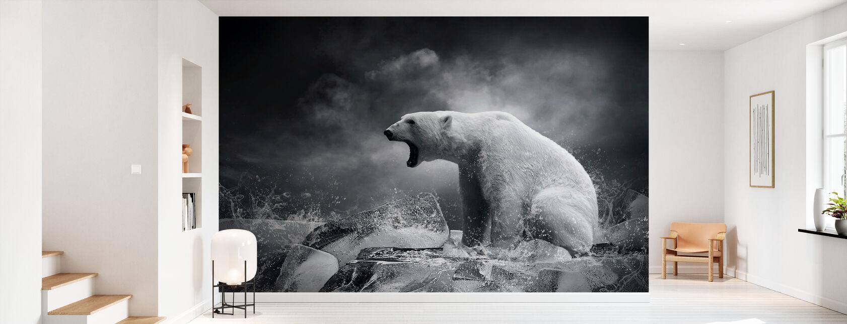 Hvit isbjørn jeger - Tapet - Gang