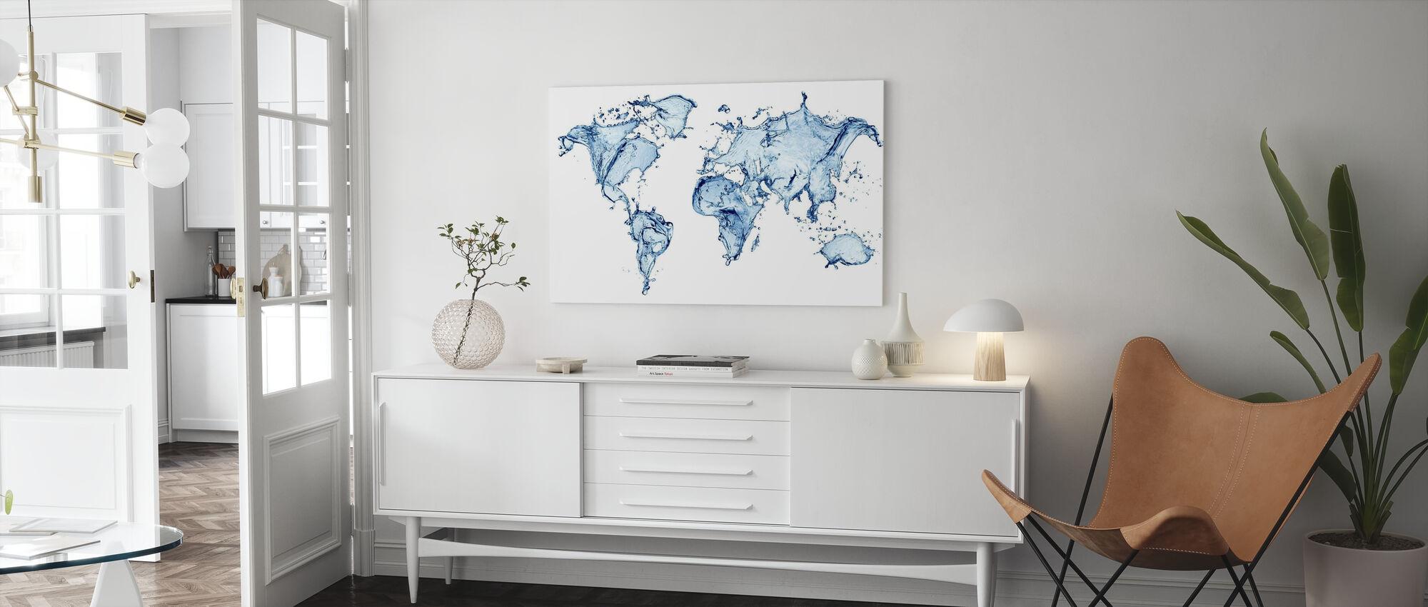 Waterwereld - Canvas print - Woonkamer